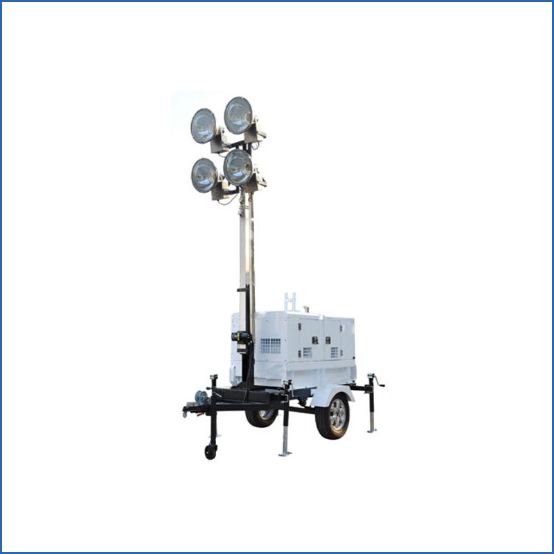 High mast mobile light tower diesel generator