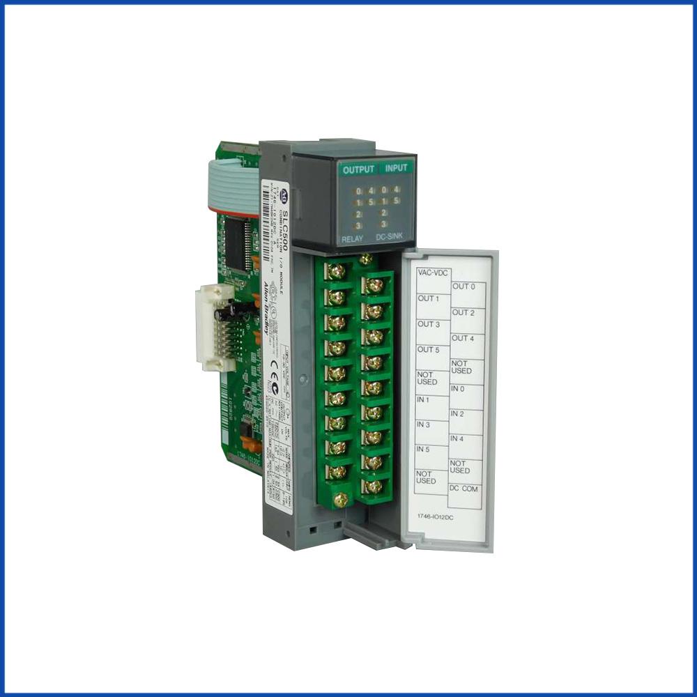 Allen Bradley 1746-IO12DC IO Digital Input Module SLC 500 Processors